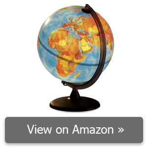 HearthSong® Electric Illuminated Orion Relief World Globe review