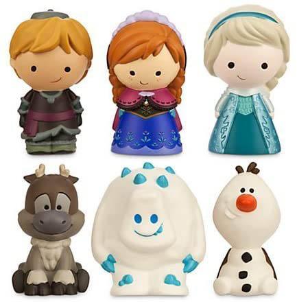 Disney Frozen 6-piece Bathtub Pool Toy Set - Highly-detailed Bathtub Dolls