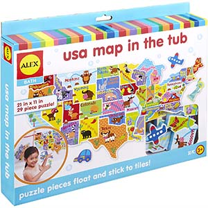 Alex Bath USA Map in the Tub Kids Bath Activity - Best for Learning About US States (table)