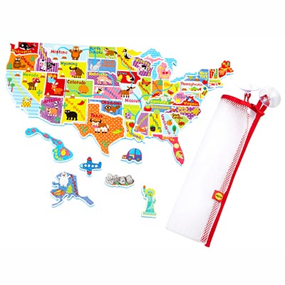 Alex Bath USA Map in the Tub Kids Bath Activity - Best for Learning About US States
