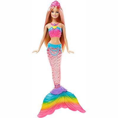 Barbie Dreamtopia Rainbow Lights Mermaid Doll, Blonde - Best for LED Rainbow Light Mermaid and Magical Effect (table)