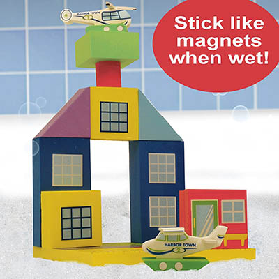 Bath Blocks Floating Airport Set in a Gift Box - The New Era Creative-Best For Empowering the Minds of Children