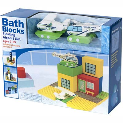 Bath Blocks Floating Airport Set in a  Gift Box - The New Era Creative-Best For Empowering the Minds of Children (table)