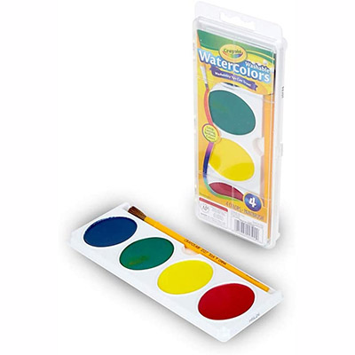 Binney & Smith Crayola Washable Watercolor Set