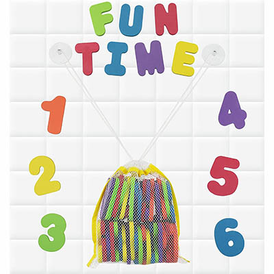 Click N' Play Bath Foam Letters and Numbers - Best for Learning Alphabet and Numbers (table)