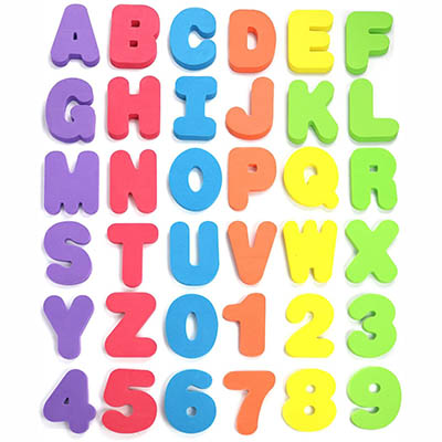 Click N' Play Bath Foam Letters and Numbers - Best for Learning Alphabet and Numbers