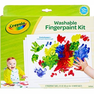 Crayola Finger Toddlers Painting – Washable, Safe, and Non-toxic (table)