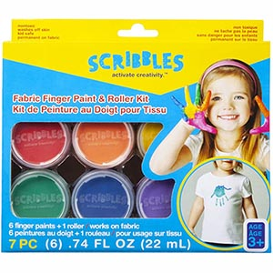 Scribbles Roller Kit Finger Paint (table)