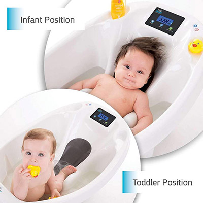 Baby Patent-19338 - Aquascale Newborn Bathtub Helps you Accurately Weigh Your Baby